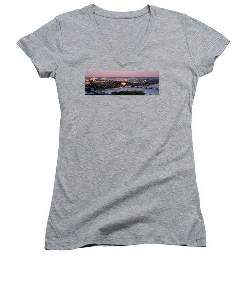 Aerial, Washington Dc, District Of Women's V-Neck T-Shirt