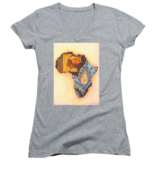 Africa Women's V-Neck T-Shirt