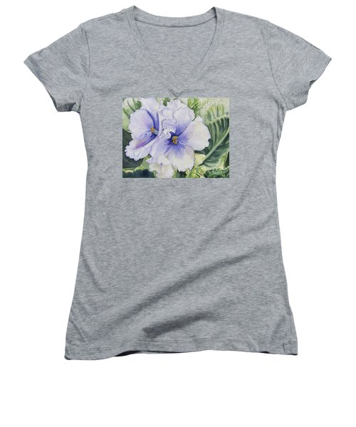 African Violet Women's V-Neck T-Shirt (Junior Cut)