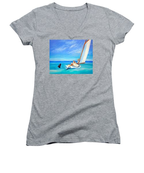 After Hopper- Sailing Women's V-Neck T-Shirt
