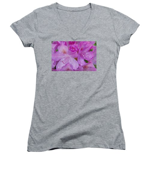 Women's V-Neck T-Shirt (Junior Cut) featuring the photograph After The Rain by Aimee L Maher Photography and Art Visit ALMGallerydotcom