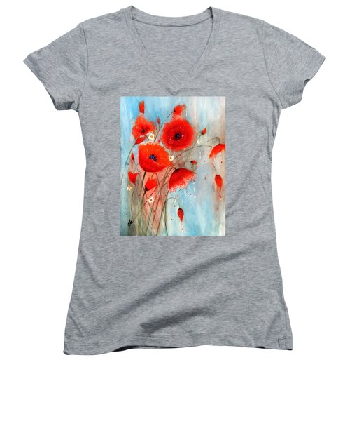 After The Rain.. Women's V-Neck T-Shirt (Junior Cut) by Cristina Mihailescu