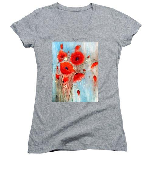 After The Rain.. Women's V-Neck T-Shirt