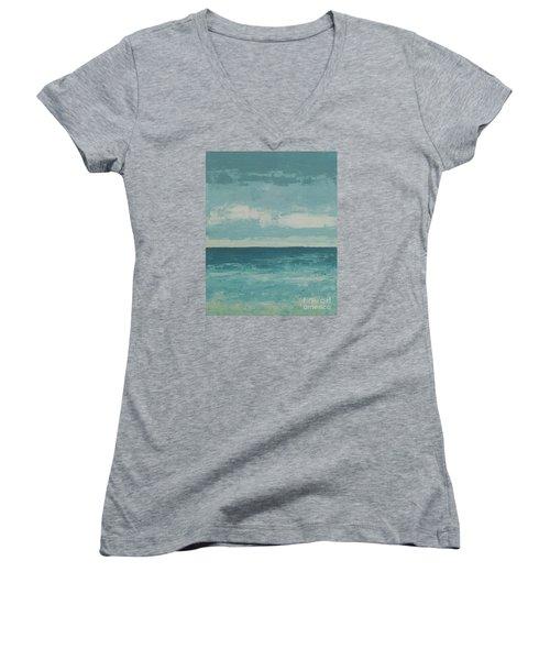 After The Rain Women's V-Neck T-Shirt (Junior Cut) by Gail Kent