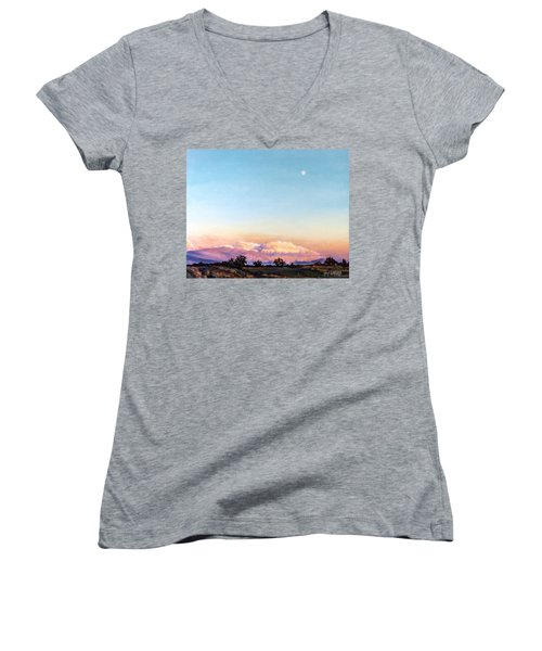 Women's V-Neck T-Shirt (Junior Cut) featuring the painting After The Storm by Craig T Burgwardt
