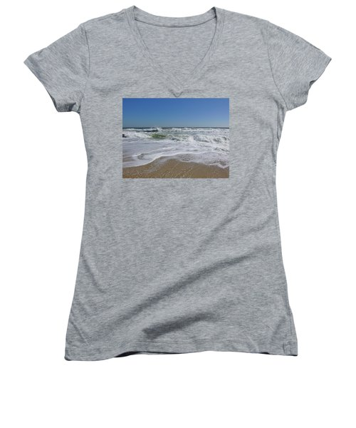 After The Storm Women's V-Neck T-Shirt (Junior Cut)