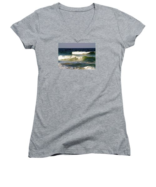 Aftermath Of A Storm Women's V-Neck T-Shirt (Junior Cut) by Patricia Griffin Brett