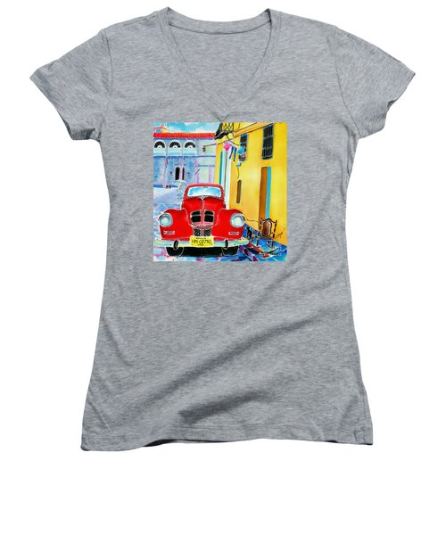 Afternoon In Havana Women's V-Neck