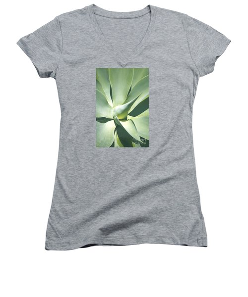 Agave Plant 1 Women's V-Neck (Athletic Fit)