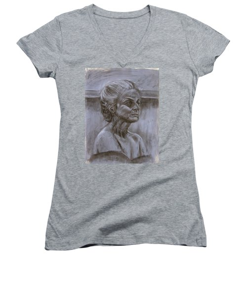 Aged Woman Women's V-Neck (Athletic Fit)