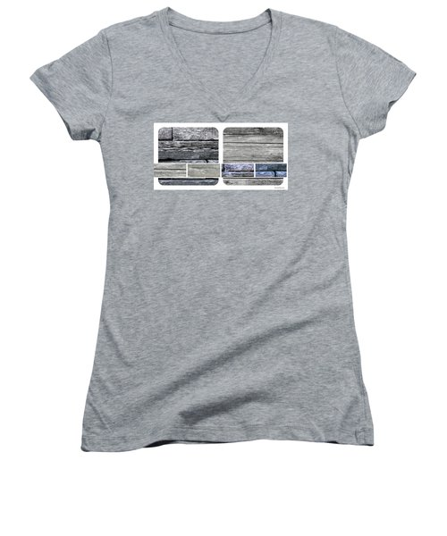 Women's V-Neck T-Shirt (Junior Cut) featuring the photograph Ageing Part One by Sir Josef - Social Critic - ART