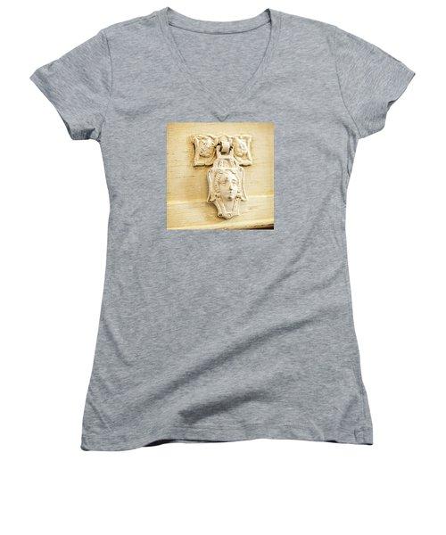 Women's V-Neck T-Shirt (Junior Cut) featuring the photograph Aging Gracefully by Caitlyn  Grasso