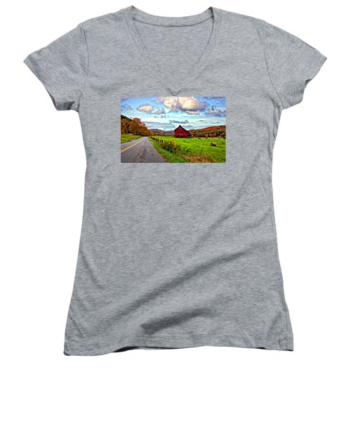 Ah...west Virginia Painted Women's V-Neck T-Shirt