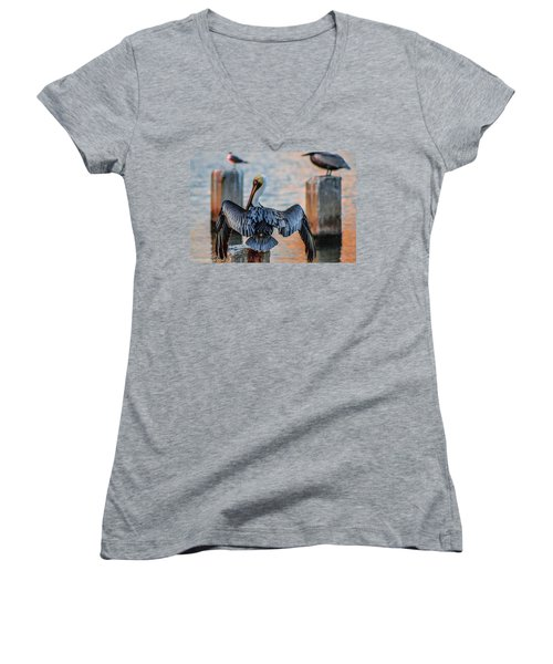 Airing Out Women's V-Neck (Athletic Fit)
