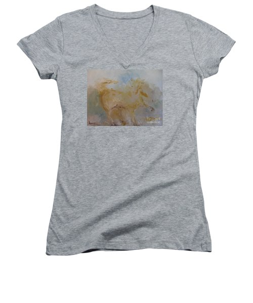 Airwalking Women's V-Neck T-Shirt (Junior Cut) by Laurie L