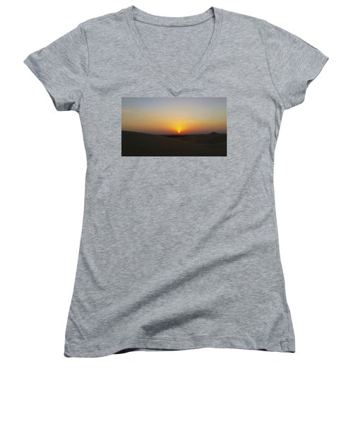 Al Ain Desert 15 Women's V-Neck T-Shirt