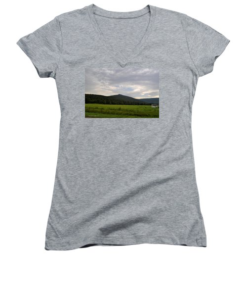 Alabama Mountains 2 Women's V-Neck T-Shirt (Junior Cut) by Verana Stark