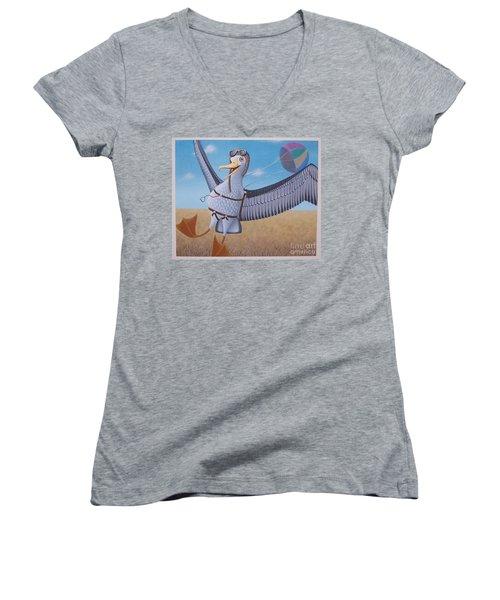 Albatross Landing Women's V-Neck (Athletic Fit)
