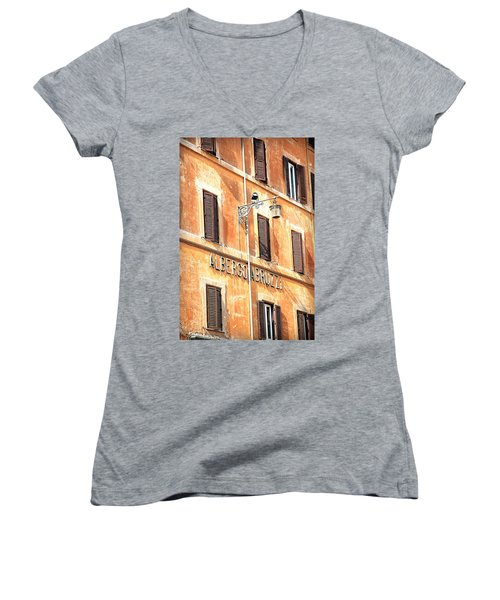 Albergo Abruzzi Women's V-Neck T-Shirt (Junior Cut) by Valentino Visentini