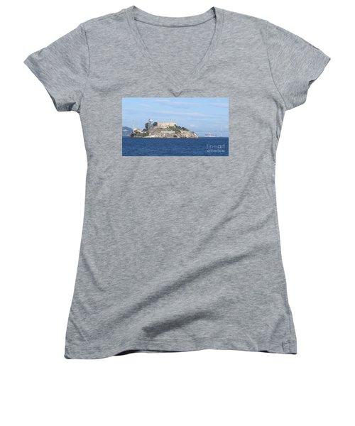 Alcatraz Island Women's V-Neck T-Shirt