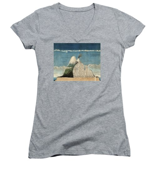 Alexander Von Humboldts Chimborazo Map Women's V-Neck T-Shirt