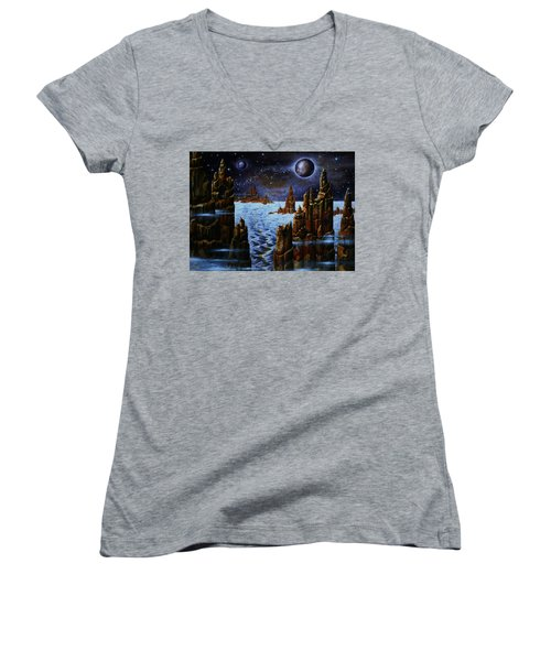 Ice And Snow  Planet  Women's V-Neck