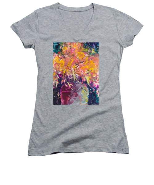 All Aglow Women's V-Neck T-Shirt
