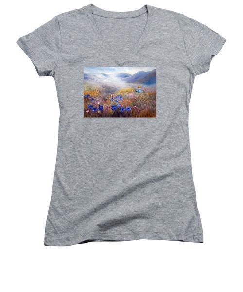 All In A Dream - Impressionism Women's V-Neck