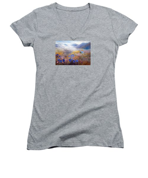 All In A Dream - Impressionism Women's V-Neck (Athletic Fit)