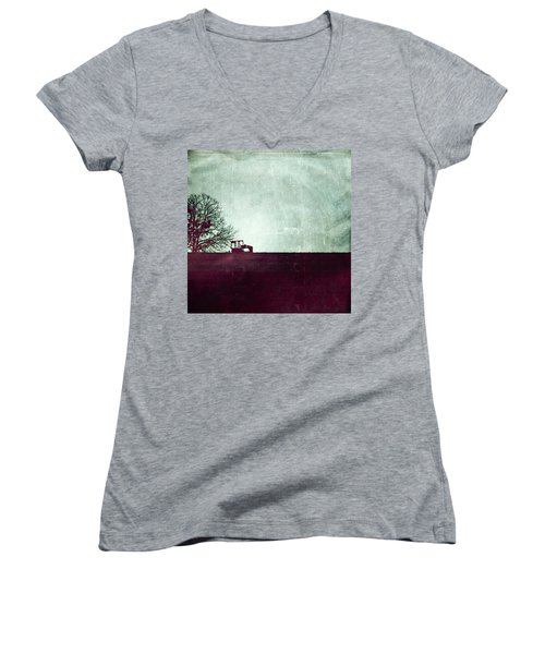 All That's Left Behind Women's V-Neck T-Shirt (Junior Cut) by Trish Mistric