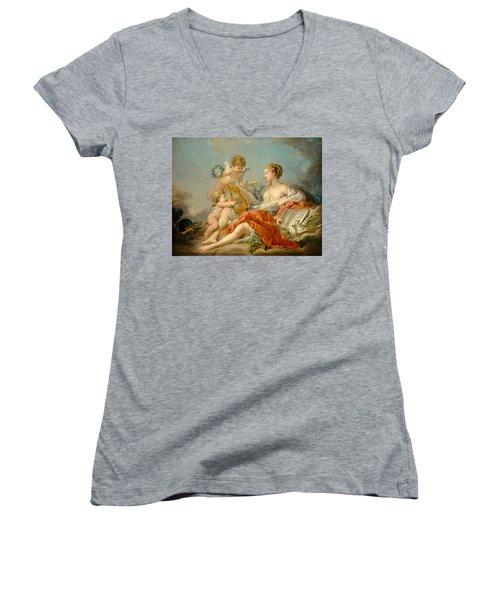 Allegory Of Music Women's V-Neck T-Shirt