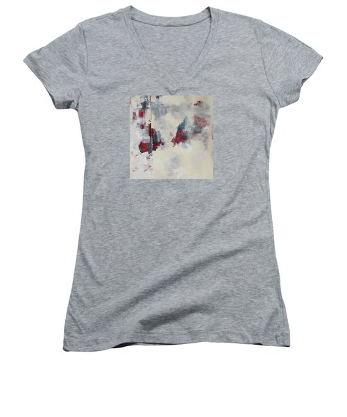 Women's V-Neck T-Shirt (Junior Cut) featuring the painting Alliteration C2012 by Paul Ashby