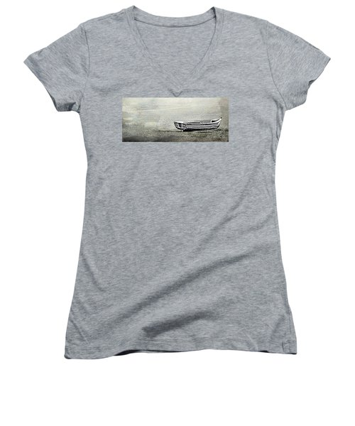 Women's V-Neck T-Shirt (Junior Cut) featuring the photograph Alone by Linsey Williams