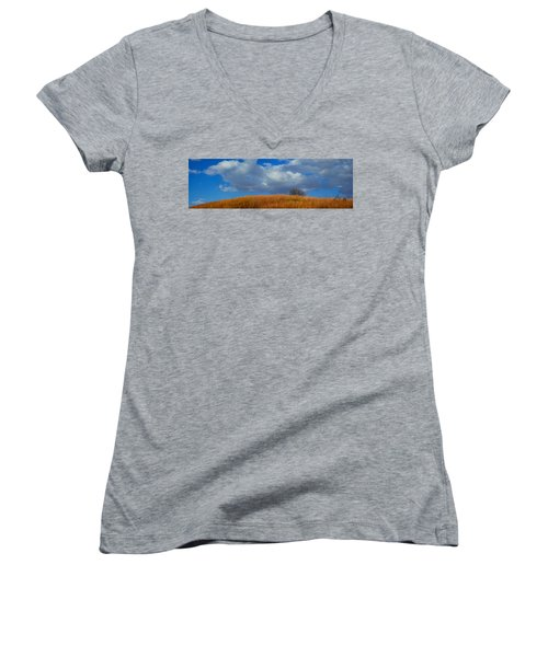 Along Big Bluestem Ridge Women's V-Neck T-Shirt