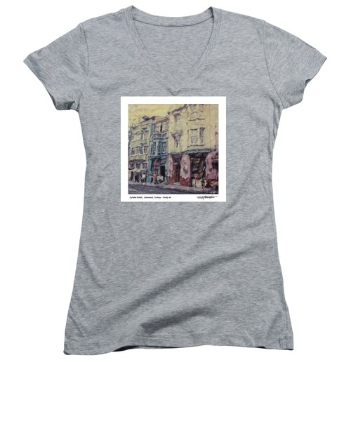 Altered Polaroid - Kybele Hotel 1 Women's V-Neck T-Shirt (Junior Cut) by Wally Hampton