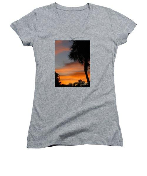 Amazing Sunrise In Florida Women's V-Neck T-Shirt