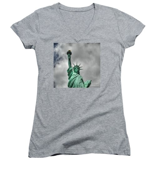 America's Lady Liberty Women's V-Neck (Athletic Fit)