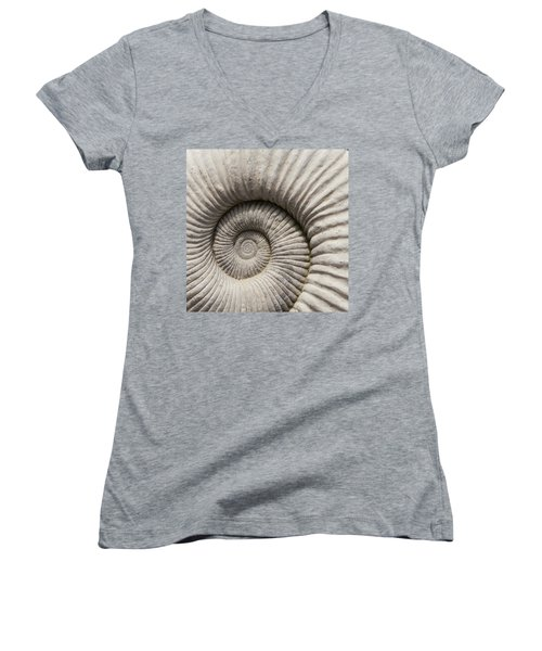 Ammonites Fossil Shell Women's V-Neck (Athletic Fit)
