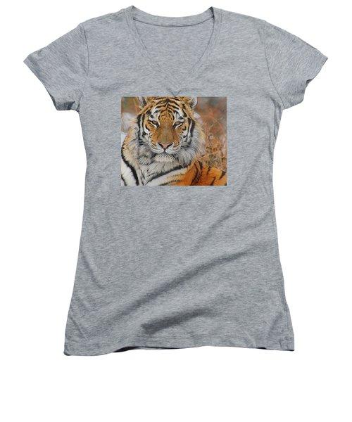 Amur Tiger Magnificence Women's V-Neck (Athletic Fit)