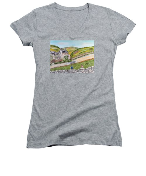 An Afternoon In June  Women's V-Neck T-Shirt (Junior Cut) by Loredana Messina