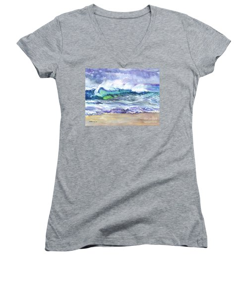 An Ode To The Sea Women's V-Neck T-Shirt (Junior Cut) by Carol Wisniewski