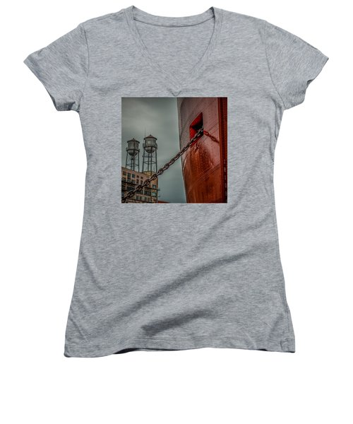 Anchor Chain Women's V-Neck (Athletic Fit)