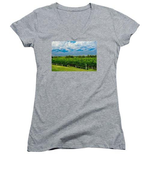 Andes Vineyard Women's V-Neck T-Shirt