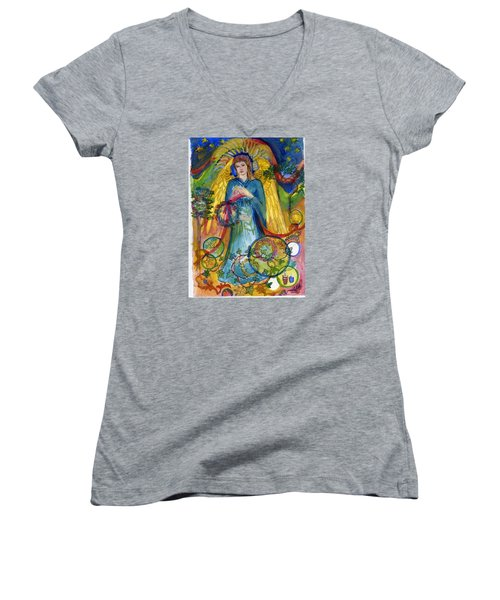 Angel In Blue Women's V-Neck (Athletic Fit)