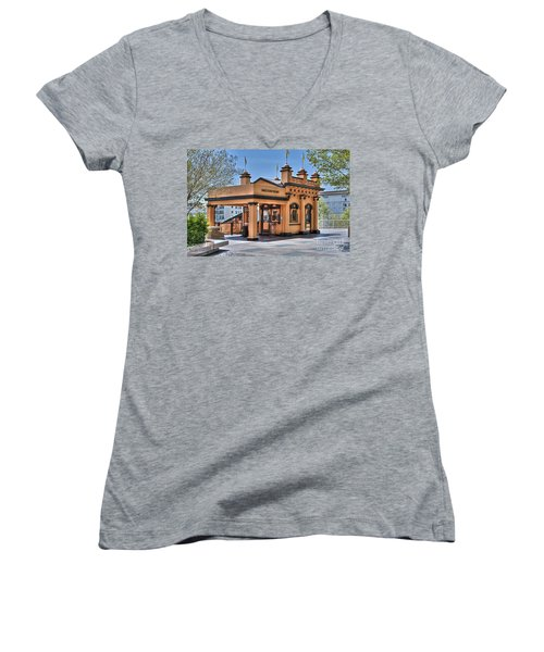 Angels Flight Landmark Funicular Railway Bunker Hill Women's V-Neck (Athletic Fit)