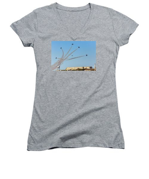 Angels Over Alcatraz Women's V-Neck