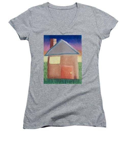 Home Sweet Home Women's V-Neck T-Shirt (Junior Cut) by Joshua Maddison