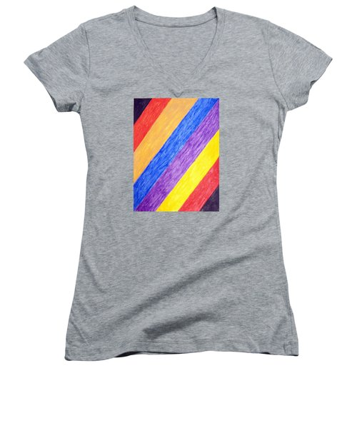 Angles Women's V-Neck T-Shirt (Junior Cut) by Stormm Bradshaw