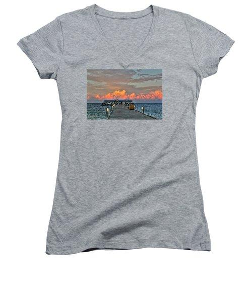 Anna Maria City Pier Women's V-Neck T-Shirt