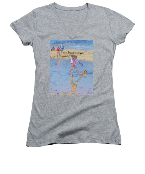 Another Day At The Beach Women's V-Neck